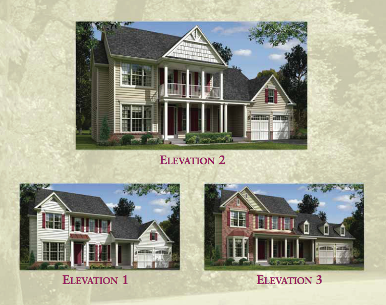 Choice of elevations for Montego