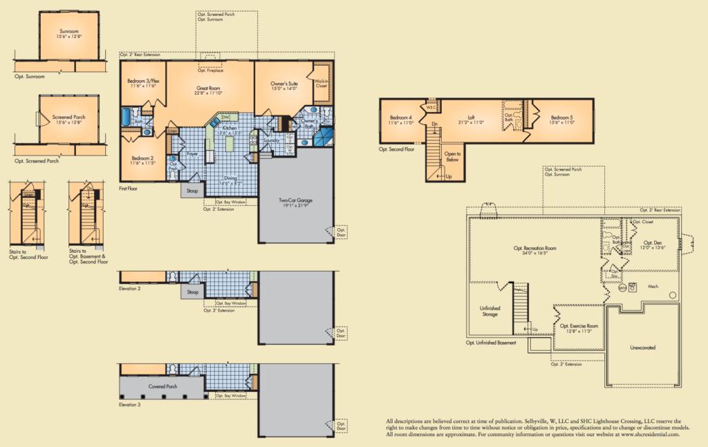 Egret floor plans
