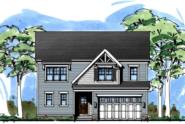 Elevation of 2 story house